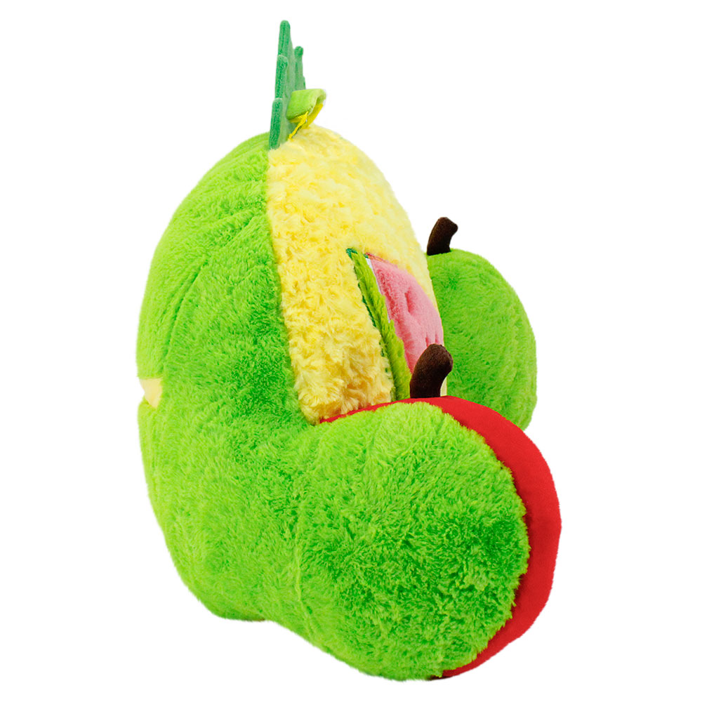 Side view of fruit medley themed nesting nook cushion