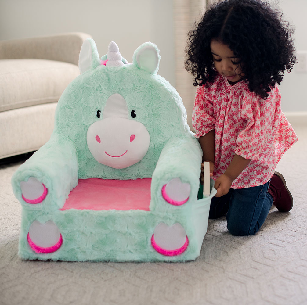 Plush Unicorn Chair For Kids Durable Easy To Clean